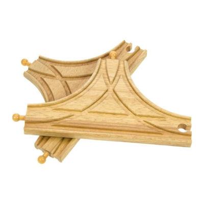 T výhybka dřevěné vláčkodráhy