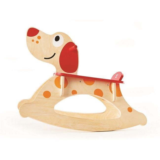 Dřevěný houpací pes