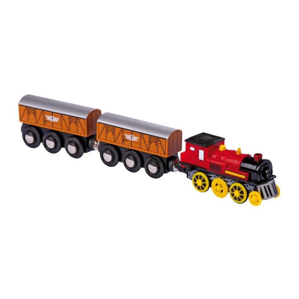 Elekrická lokomotiva k vláčkodráze se dvěma vagónky