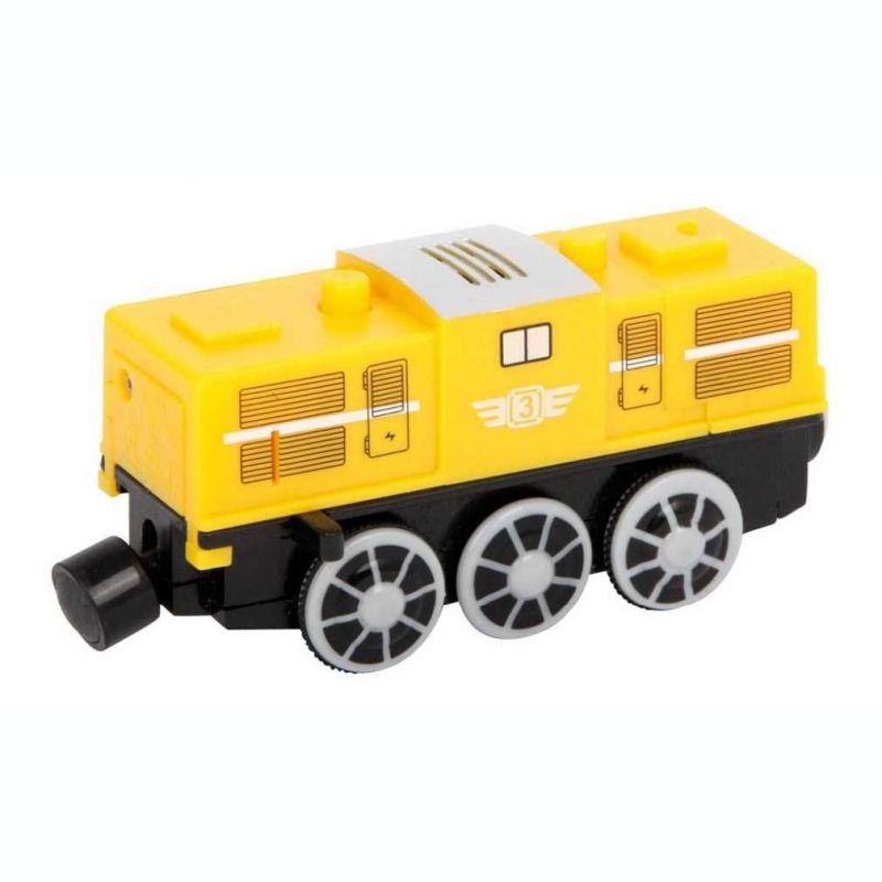 Elektrická žlutá lokomotiva