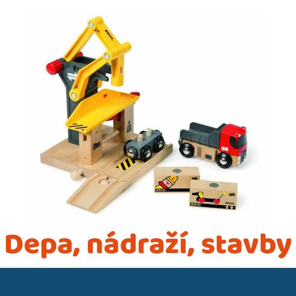 Depa, nádraží, stavby