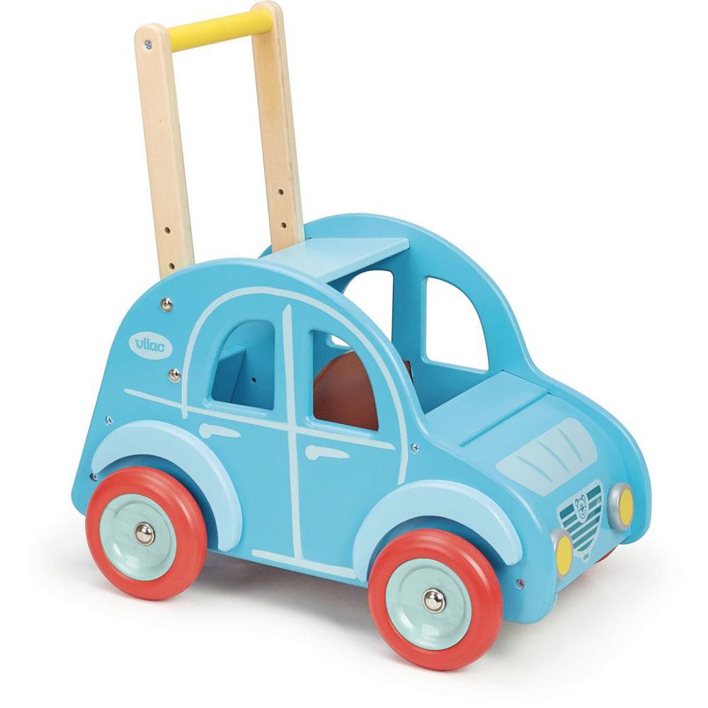 Dřevěné chodítko auto