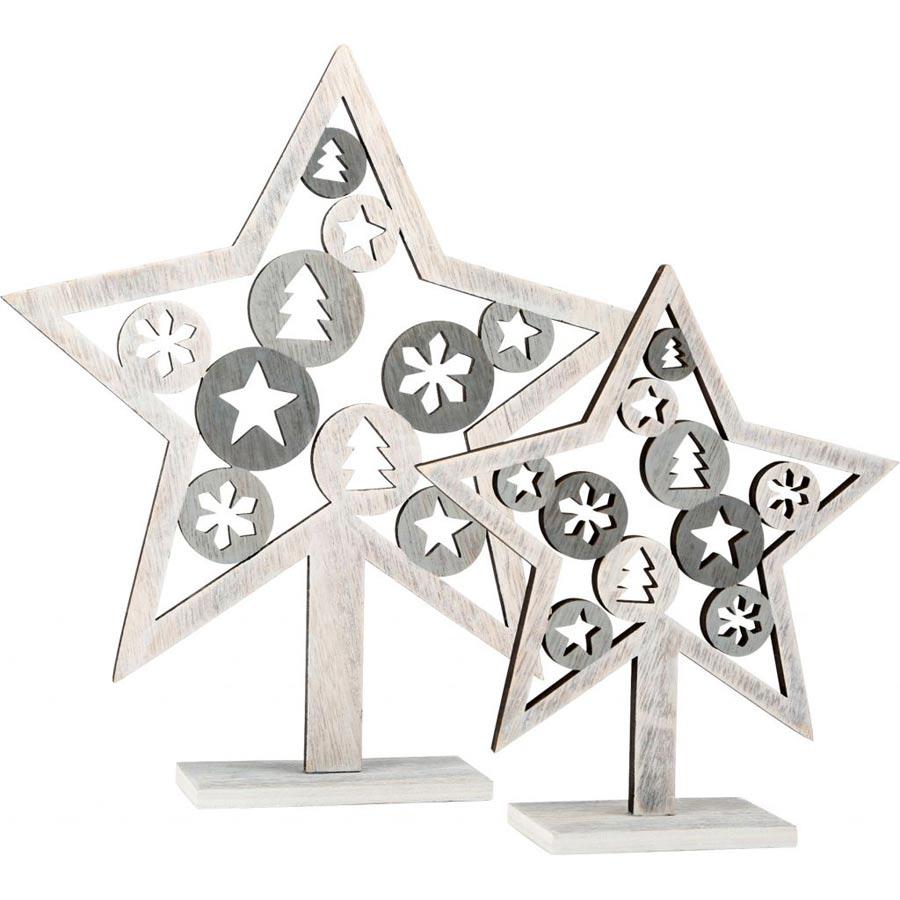 Dřevěná vánoční dekorace