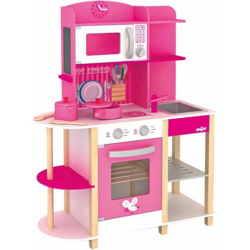 Růžová kuchyně pro děti