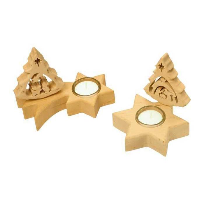 Vánoční svícen na čajové svíčky