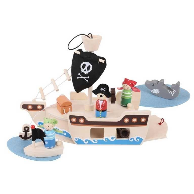 Dřevěná hračka piráti z karibiku