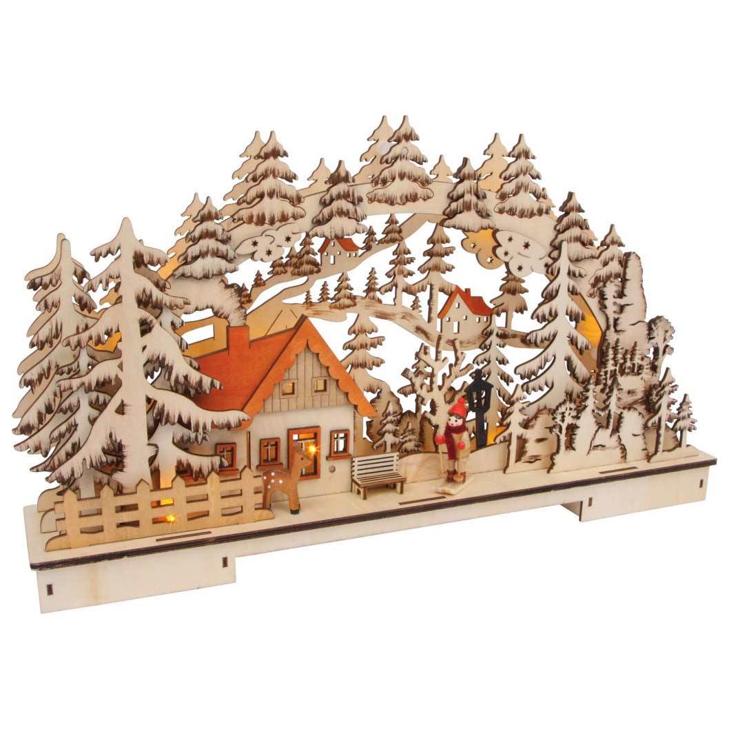 Luxusní dřevěná dekorace