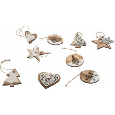 Dřevěné vánoční ozdoby na stromeček