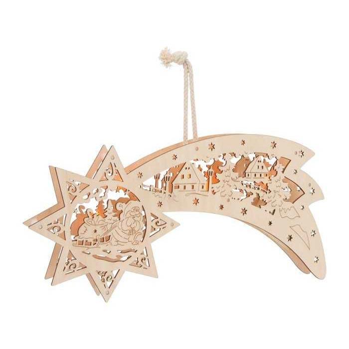 Vánoční hvězda ze dřeva