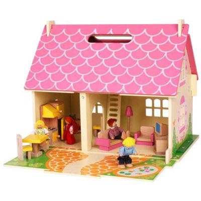Přenosný domeček pro panenky