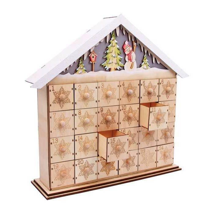 Adventní kalendář z dřeva