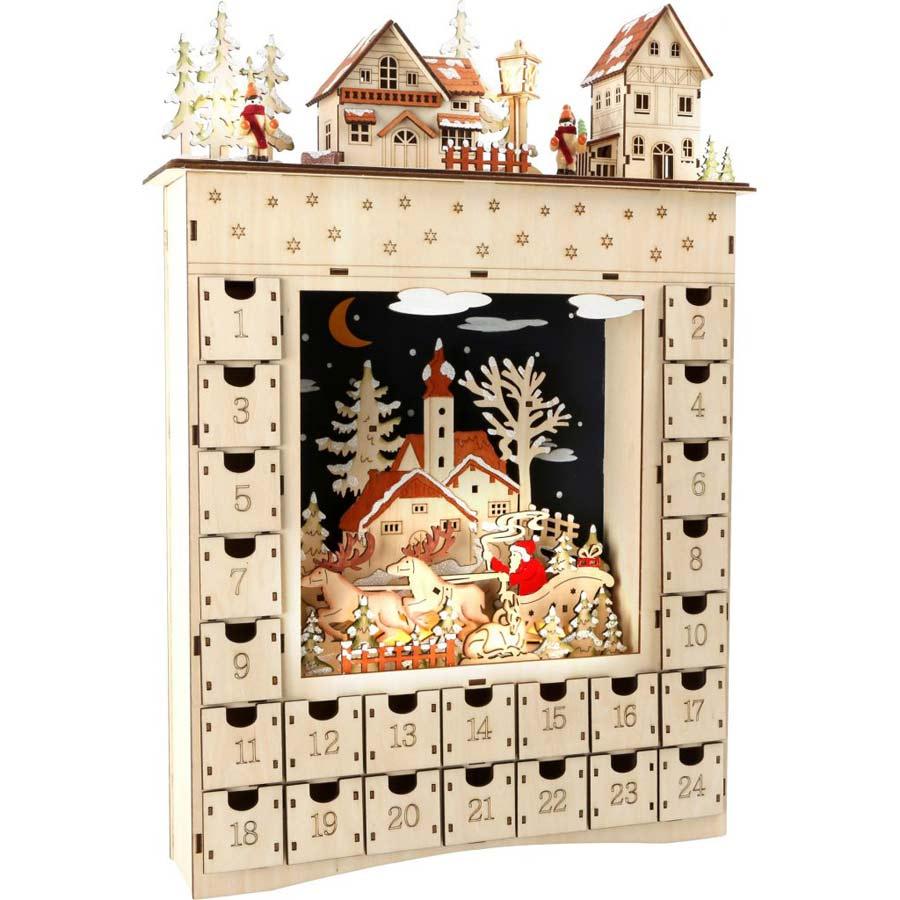 Dřevěné adventní kalendář