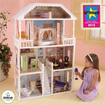 Luxusní dřevěný domeček pro panenky