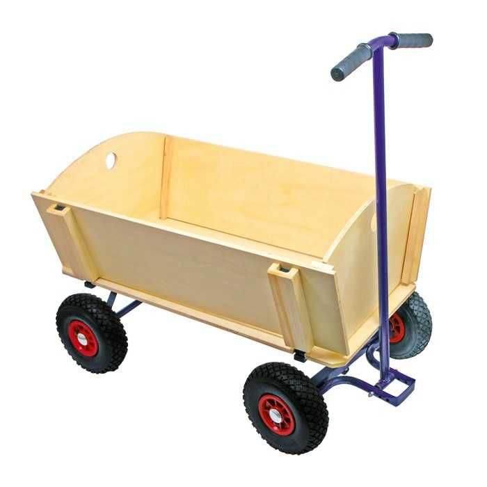 Dřevěný vozík pro děti