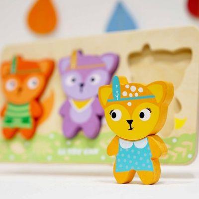 PL097 Little Fox Puzzle Deer focus