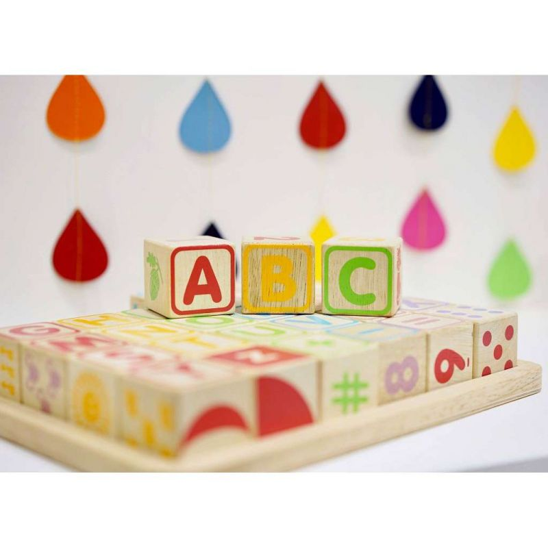 PL101 ABC Wooden Blocks ABC Zoom