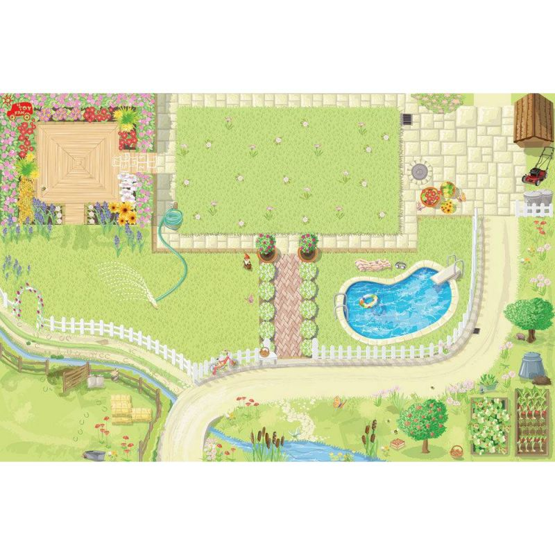 TV585 Medium Sized Doll's House Playmat 80 x 120cm